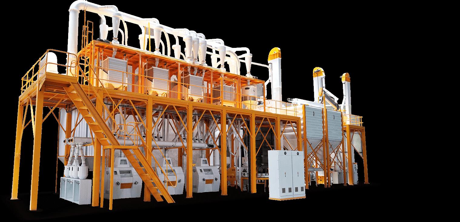 مجموعة معدات معالجة الذرة