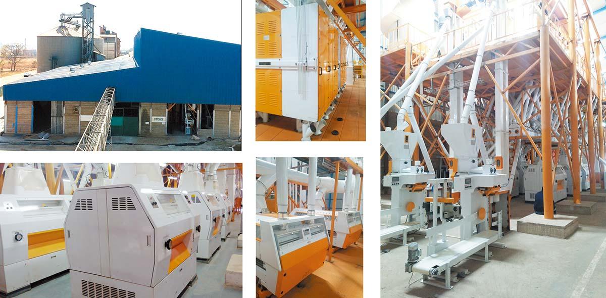 مصنع طحن الذرة 200TPD زامبيا