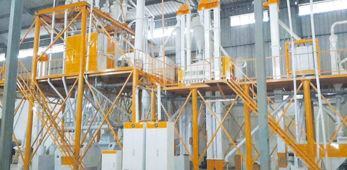 ملاوي 100TPD مصنع طحن الذرة