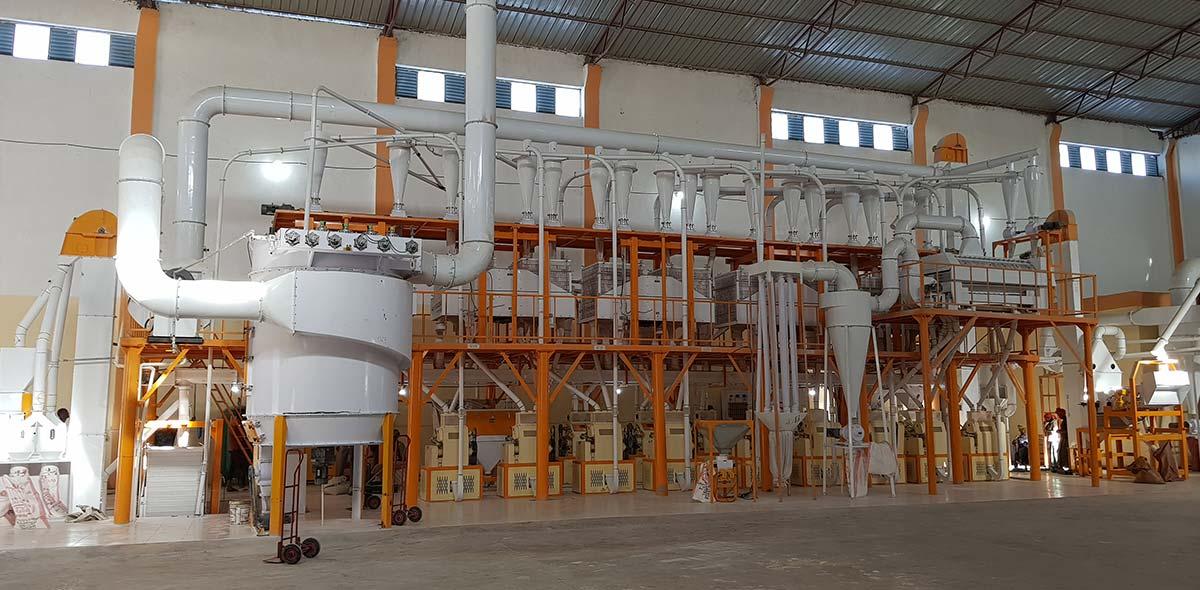 إثيوبيا 140TPD مصنع طحن القمح